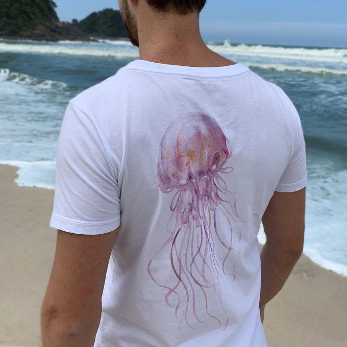 Camiseta mint água é vida