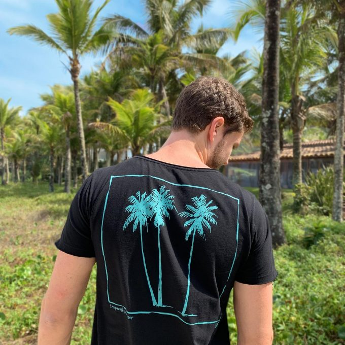 Camiseta mint tropical summer