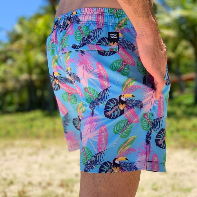 Shorts mint tropicanos