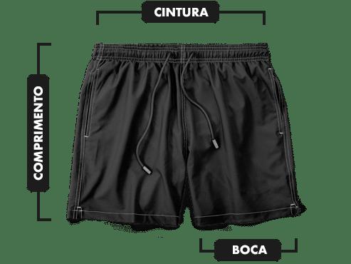 Medidas shorts da mint